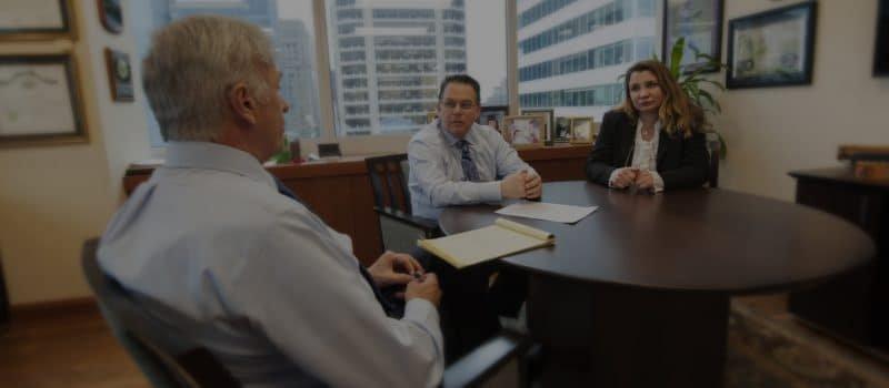 Car accident attorneys discussing case